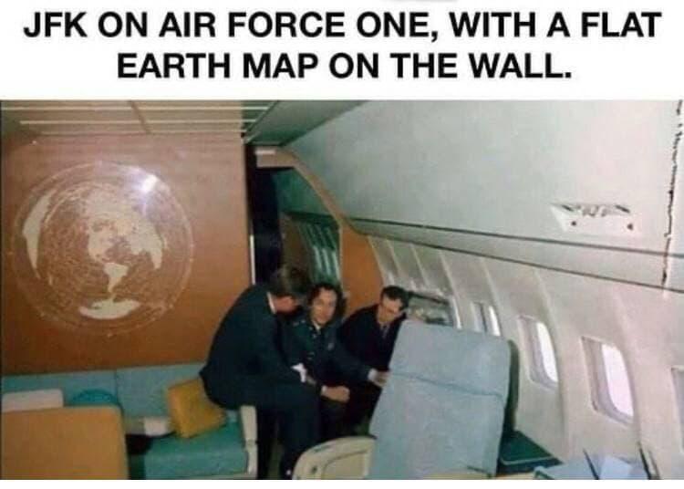 Une vue de la terre plate avec JFK